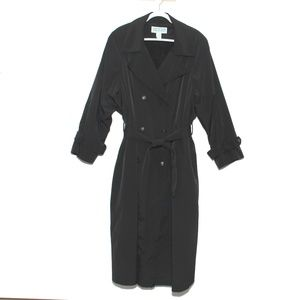 Weather Solutions Black Trench Coat Long Size 22W